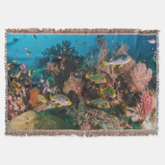 Coral Reef throw blanket