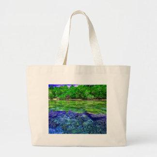 Coral Reef Tropical Coastline Large Tote Bag