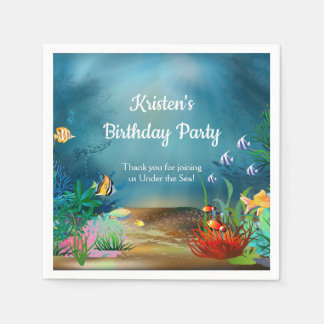 Coral Reef Under the Sea Party Paper Napkins