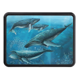 Coral Reef Whales Hitch Cover