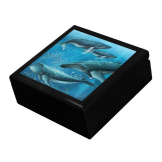 Coral Reef Whales Trinket Box