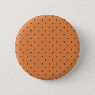 Coral Rose And Light Brown Polka Dots 2 Inch Round Button