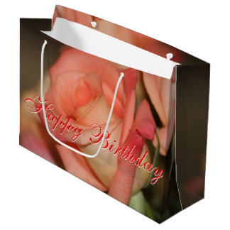 Coral Rose Large Gift Bag