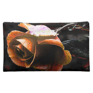 Coral Rose Makeup Bag