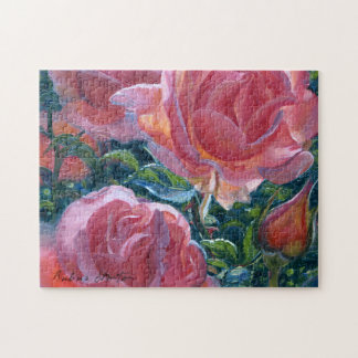"""Coral Roses"" Jigsaw Puzzle"
