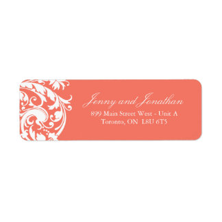 Coral RSVP Address Labels
