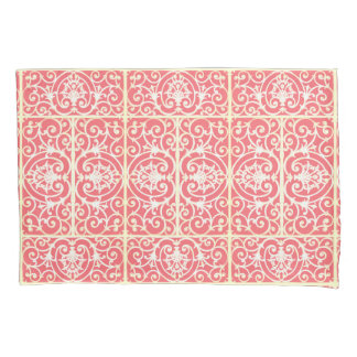 Coral scrollwork pattern pillowcase