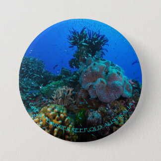Coral Sea Round Button