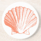 Coral Seashell Coasters