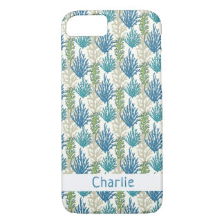 Coral Seaweed Pattern custom name phone cases