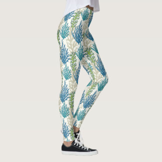 Coral Seaweed Pattern leggings