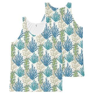 Coral Seaweed Pattern tank top