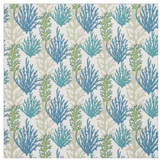Coral Seaweeds Pattern fabric