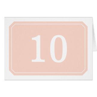 Coral Simply Elegant Table Number Card