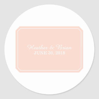 Coral Simply Elegant Wedding Stickers