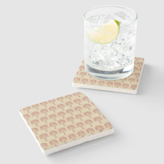 Coral Spice Moods Palm Stone Coaster