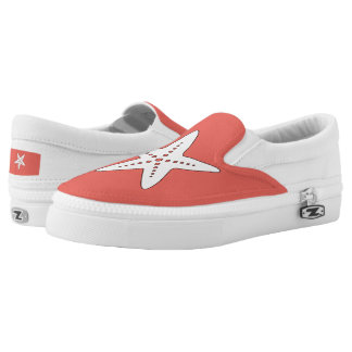 Coral Starfish Slip on Shoes
