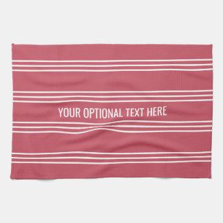 Coral Stripes custom kitchen towel