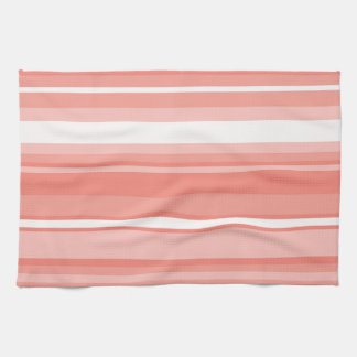 Coral stripes hand towels
