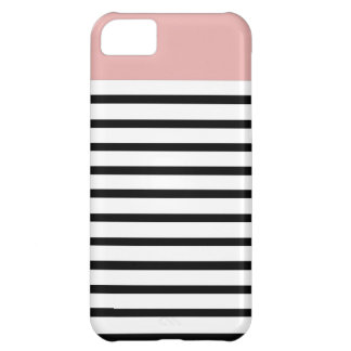 coral top stripe iPhone 5C covers