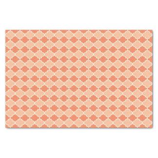 Coral Two Tone Moroccan Lattice Tissue Paper
