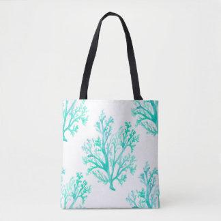 Coral Watercolor Tote Bag