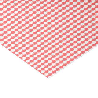 Coral White Scales Pattern Tissue Paper