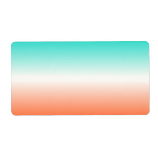 Coral White Turquoise Ombre