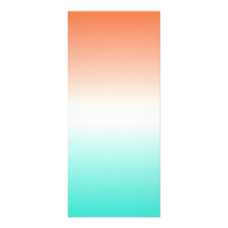 Coral White Turquoise Ombre Full Colour Rack Card