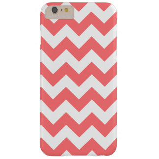 Coral White Zigzag Chevron Pattern Girly Barely There iPhone 6 Plus Case