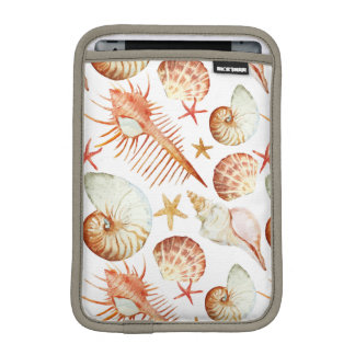 Coral With Shells And Crabs Pattern iPad Mini Sleeve
