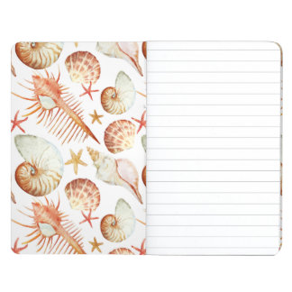 Coral With Shells And Crabs Pattern Journals