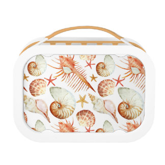 Coral With Shells And Crabs Pattern Lunch Boxes