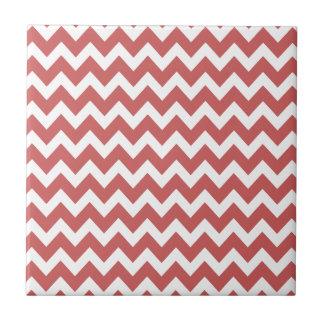 Coral Zigzag Chevron Stripes Tiles