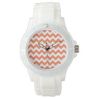 Coral Zigzag Watch