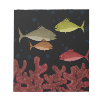 Corals and fish notepads