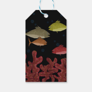 Corals and fish pack of gift tags