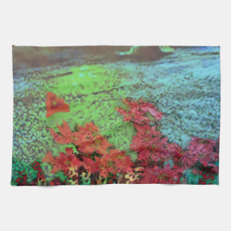 Corals and Flowers. Kitchen Towels
