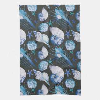 Corals With Shells Pattern Towel