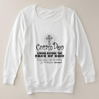 """Coram Deo"" Plus Size Sweatshirt (Light Colors)"