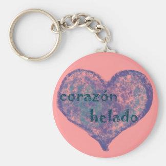 Corazon Helado Basic Round Button Keychain