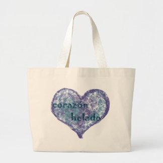 Corazon Helado Large Tote Bag