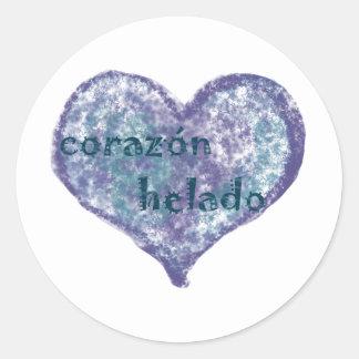 Corazon Helado Round Sticker