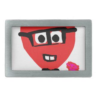 corazon nerd rectangular belt buckles