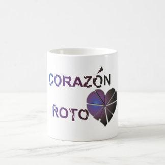 Corazon roto coffee mug
