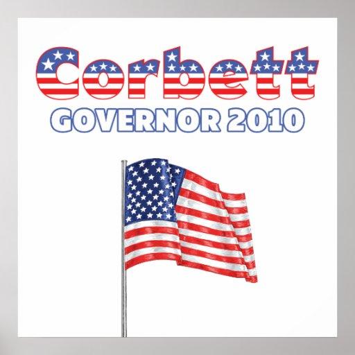 Corbett Patriotic American Flag 2010 Elections Poster