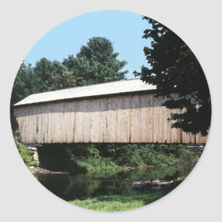Corbin Covered Bridge Round Sticker
