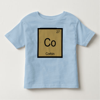 Corbin Name Chemistry Element Periodic Table Toddler T-shirt