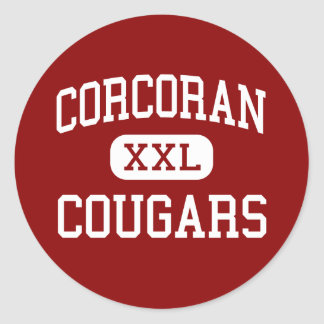 Corcoran - Cougars - High - Syracuse New York Round Sticker