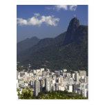 Corcovado overlooking Rio de Janeiro, Brazil Postcards